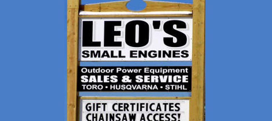 """Leo's Small Engines Sign"""